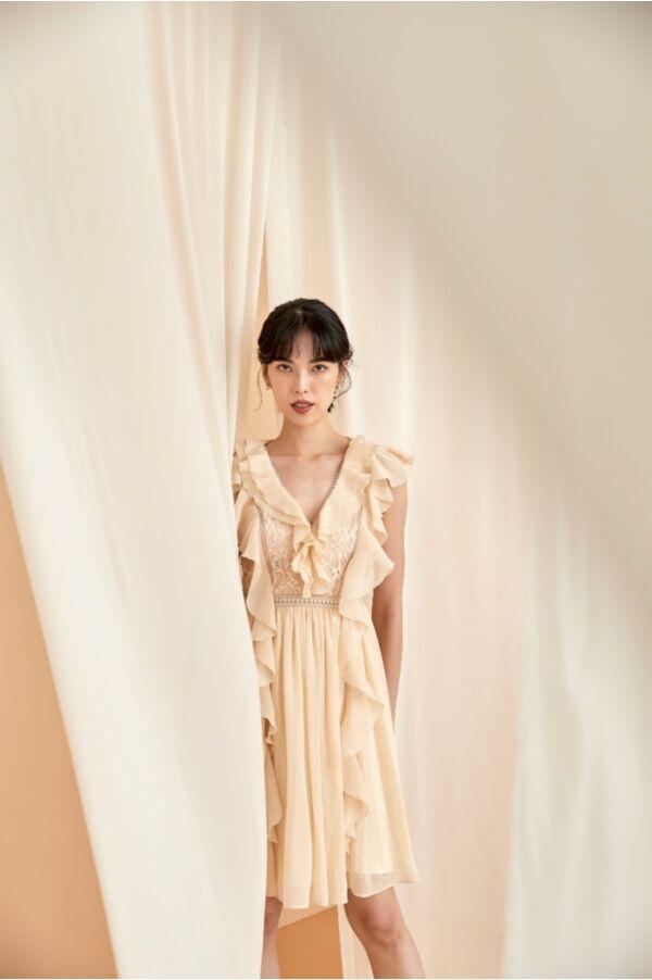 質感仙女蕾絲洋裝