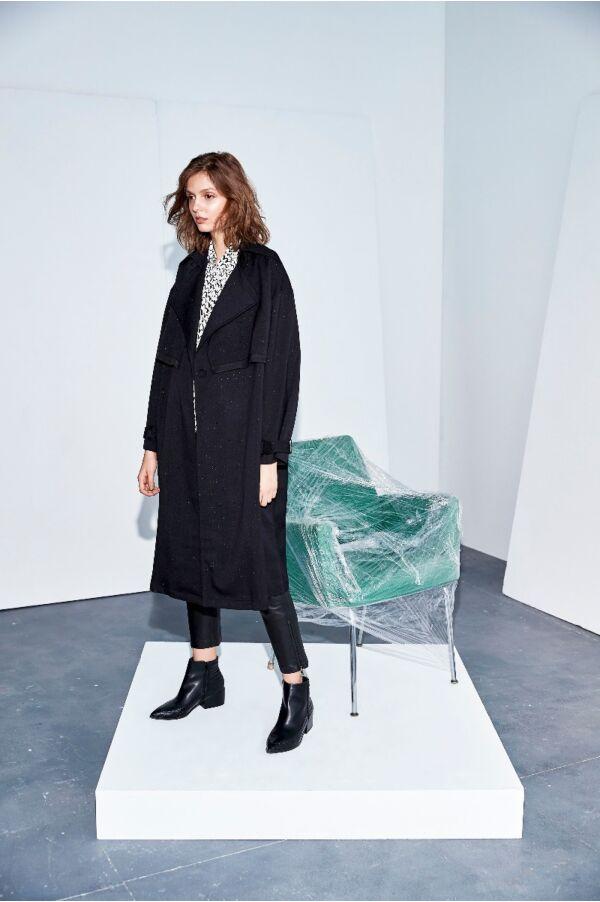 雙領設計高質感大衣