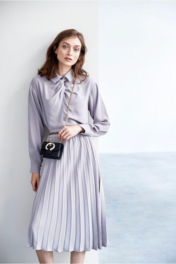 經典百摺氣質長裙