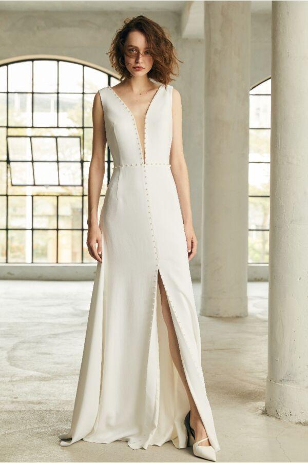 珍珠長禮服