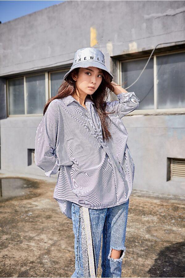 條紋氣質襯衫