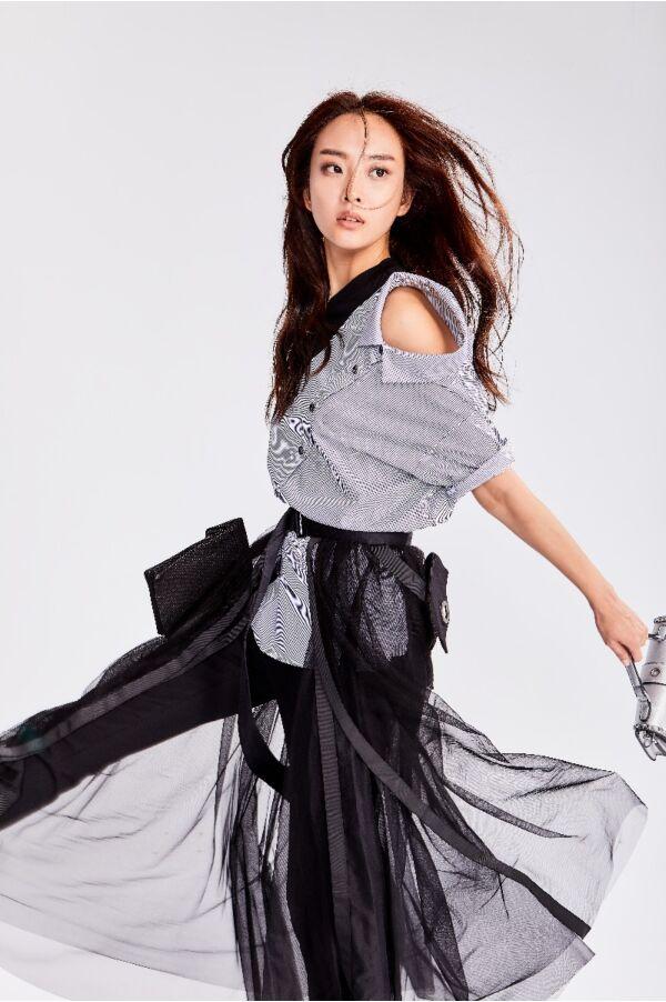 精緻網紗長裙