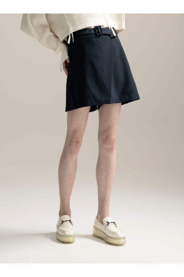 前片裙設計中腰褲