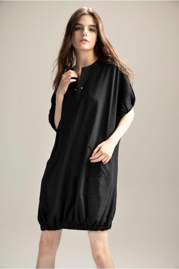 袖棒點綴寬鬆洋裝