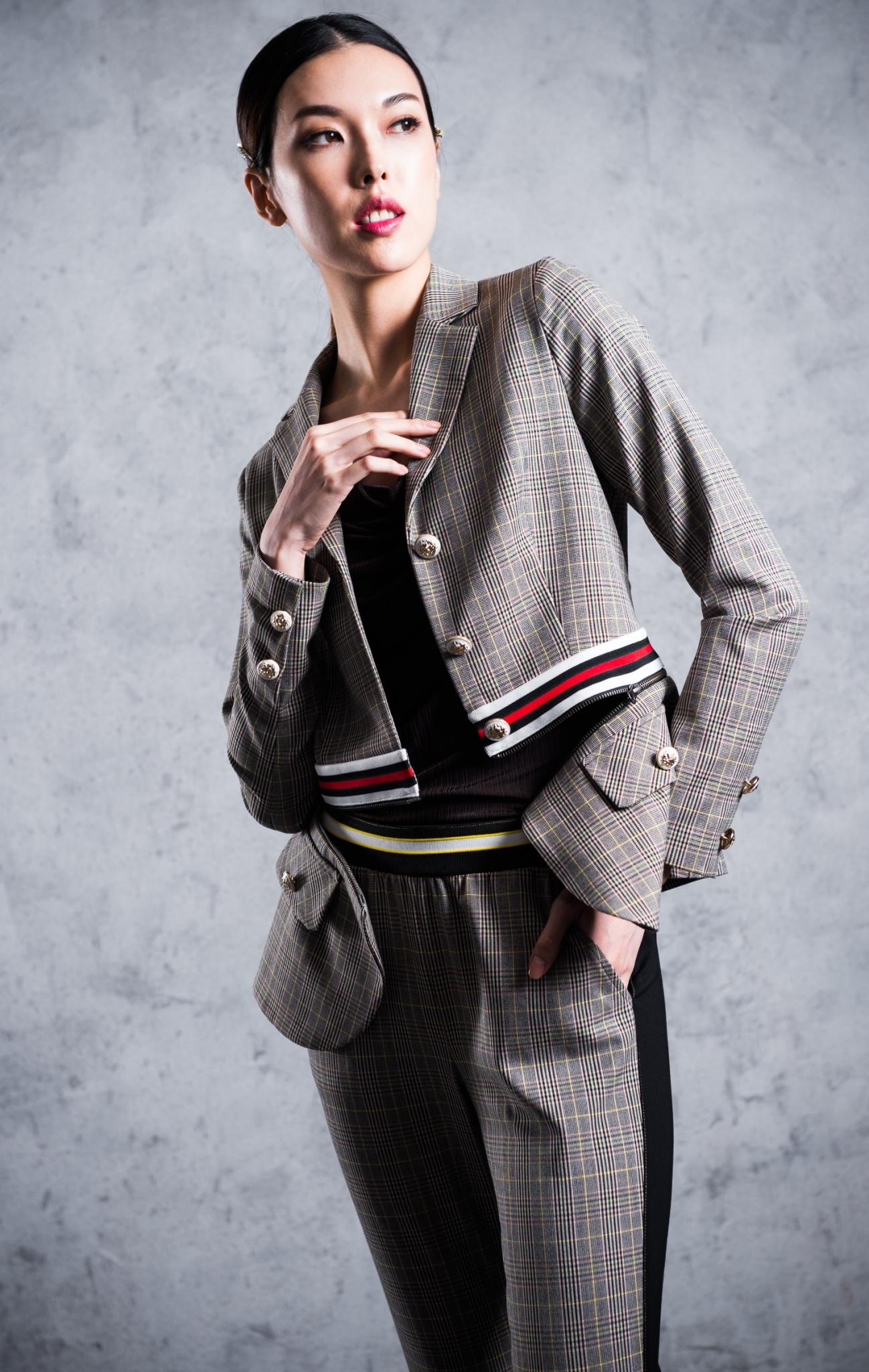 格紋西裝外套 / 百搭格紋褲